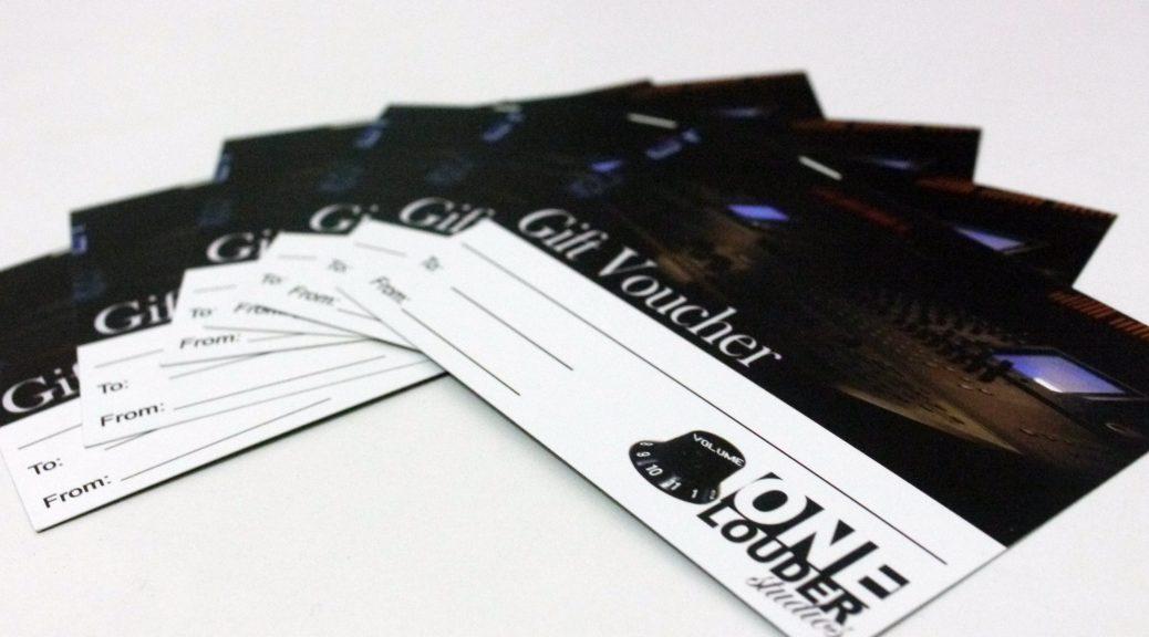 One Louder Studios Gift Vouchers