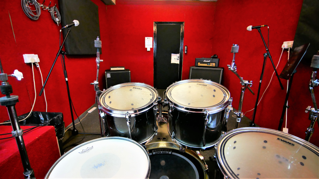 From the drum kit of The Red Room at One Louder Studios
